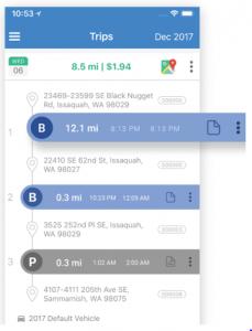 What the triplog app looks like